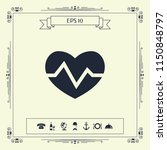 heart medical icon | Shutterstock .eps vector #1150848797