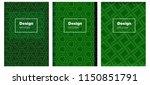 dark green vector pattern for...