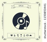 cd  dvd with music symbol | Shutterstock .eps vector #1150853441