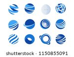 globe icons for business and... | Shutterstock .eps vector #1150855091