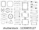 floral frame  border  corner ...   Shutterstock .eps vector #1150855127