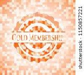 gold membership orange tile... | Shutterstock .eps vector #1150857221