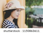 close up shot of stylish young... | Shutterstock . vector #1150863611