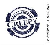 blue creepy distress rubber seal | Shutterstock .eps vector #1150864571