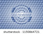 gold membership blue emblem... | Shutterstock .eps vector #1150864721