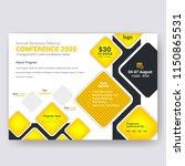 horizontal conference flyer... | Shutterstock .eps vector #1150865531