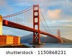 view of the golden gate bridge  ... | Shutterstock . vector #1150868231