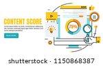 content score  online content... | Shutterstock .eps vector #1150868387