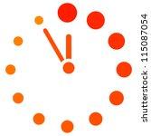 vector red clock icon | Shutterstock .eps vector #115087054