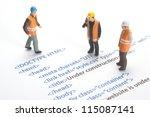 printed html code of website ... | Shutterstock . vector #115087141