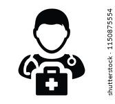 medical icon vector male doctor ...   Shutterstock .eps vector #1150875554
