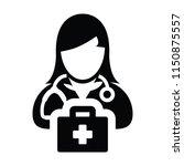 doctor icon vector female...   Shutterstock .eps vector #1150875557