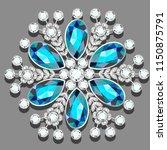 christmas snowflake crystal... | Shutterstock .eps vector #1150875791