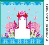 beautiful unicorn and fairy... | Shutterstock .eps vector #1150875851