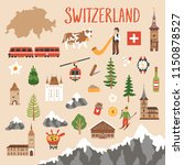 vector icon set of switzerland... | Shutterstock .eps vector #1150878527