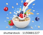 oatmeal advertising and forest... | Shutterstock .eps vector #1150881227