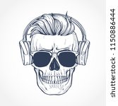 skull with hairstyle | Shutterstock .eps vector #1150886444