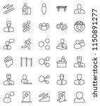 thin line vector icon set  ... | Shutterstock .eps vector #1150891277