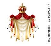 vector royal baldachin with... | Shutterstock .eps vector #1150891547