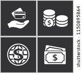 vector money icon set.... | Shutterstock .eps vector #1150895864
