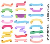 nice vintage ribbon elements... | Shutterstock .eps vector #1150899107