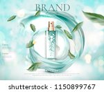 refreshing skincare spray with... | Shutterstock .eps vector #1150899767