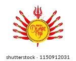 happy derga puja festival... | Shutterstock .eps vector #1150912031