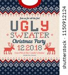 ugly sweater christmas party... | Shutterstock .eps vector #1150912124