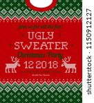 ugly sweater christmas party... | Shutterstock .eps vector #1150912127