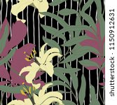 elegance colorful floral... | Shutterstock .eps vector #1150912631