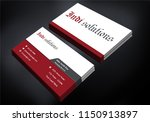 attractive business card   Shutterstock .eps vector #1150913897