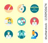 hospital icons set. disease ... | Shutterstock .eps vector #1150920674