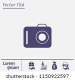 photo camera icon. photography. ... | Shutterstock .eps vector #1150922597
