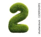 grass font 3d rendering number 2 | Shutterstock . vector #1150924391