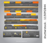 web design navigation set.... | Shutterstock .eps vector #115092844