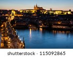 Cityscape Of Prague With Castl...