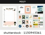 set of planners and to fo lists ... | Shutterstock .eps vector #1150945361