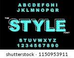 vector of modern bold font.... | Shutterstock .eps vector #1150953911