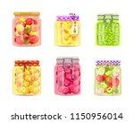 preserved food vegetable  fruit ... | Shutterstock .eps vector #1150956014