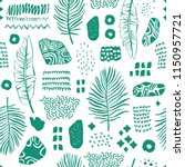 seamless pattern with hand...   Shutterstock .eps vector #1150957721