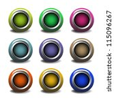 set of nine web buttons... | Shutterstock .eps vector #115096267