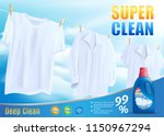 laundry liquid detergent ...   Shutterstock .eps vector #1150967294