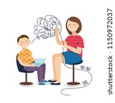 professional speech therapy for ... | Shutterstock .eps vector #1150972037
