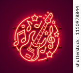 neon label music rock banner.... | Shutterstock .eps vector #1150978844
