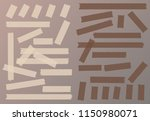 brown adhesive  sticky  masking ... | Shutterstock .eps vector #1150980071