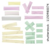 set of colorful adhesive ... | Shutterstock .eps vector #1150980074