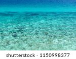 top view of transparent shallow ... | Shutterstock . vector #1150998377