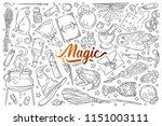 hand drawn magic tools. | Shutterstock .eps vector #1151003111