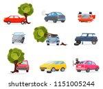 flat vector icons of broken... | Shutterstock .eps vector #1151005244