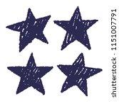 hand drawn style stars set... | Shutterstock .eps vector #1151007791